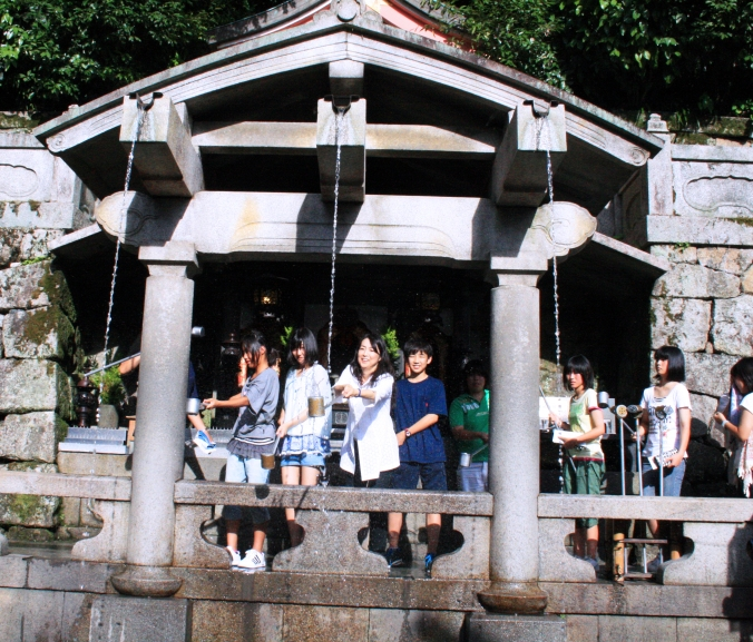 OTOWA FALLS' WISHING FOUNTAINS, KIYOMIZUDERA